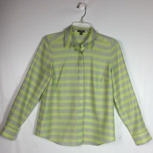 Ann Taylor Women's Shirt Blouse Size 6P Roll up